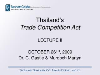 Thailand's  Trade Competition Act