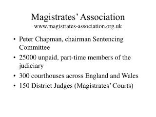 Magistrates' Association magistrates-association.uk