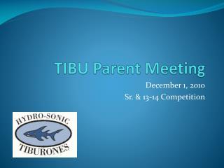 TIBU Parent Meeting