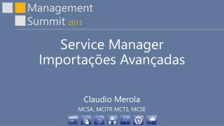 Service Manager Importações Avançadas