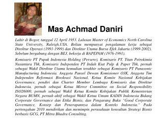 Mas Achmad Daniri