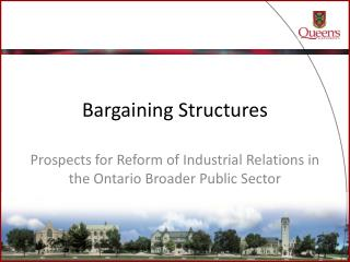 Bargaining Structures