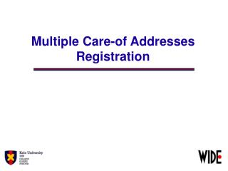Multiple Care-of Addresses Registration