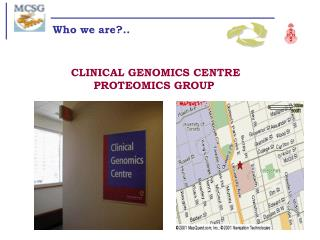 CLINICAL GENOMICS CENTRE PROTEOMICS GROUP