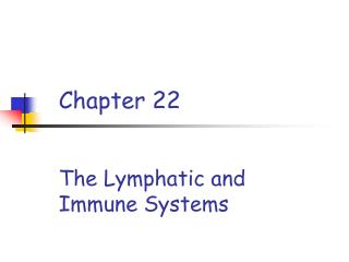Chapter 22   The Lymphatic and Immune Systems