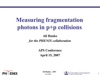Measuring fragmentation photons in p+p collisions