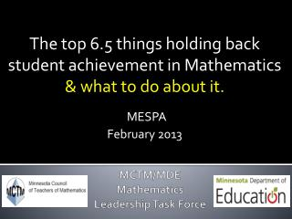 MCTM/MDE Mathematics Leadership Task Force