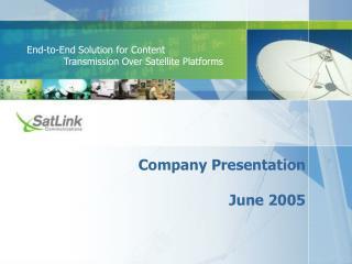 Company Presentation June 2005