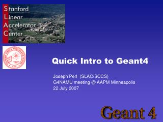 Quick Intro to Geant4