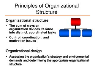 Principles of Organizational Structure