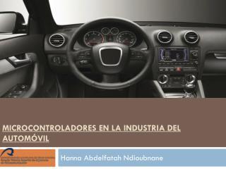 MICROCONTROLADORES EN LA INDUSTRIA DEL AUTOMÓVIL
