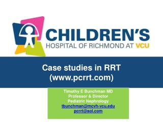 Case studies in RRT (pcrrt)