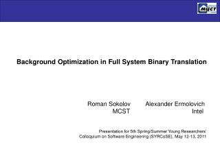 Background Optimization in Full System Binary Translation