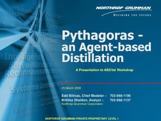 Pythagoras -   an Agent-based Distillation