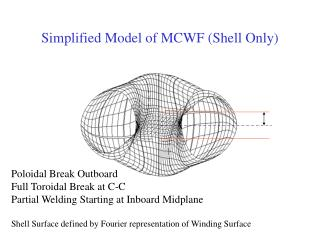 Simplified Model of MCWF (Shell Only)