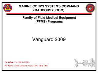 MARINE CORPS SYSTEMS COMMAND (MARCORSYSCOM)