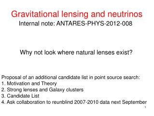 Gravitational lensing and neutrinos