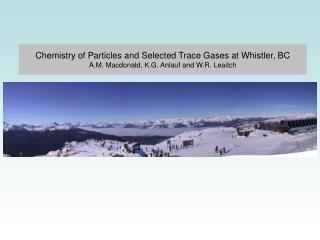 Chemistry of Particles and Selected Trace Gases at Whistler, BC