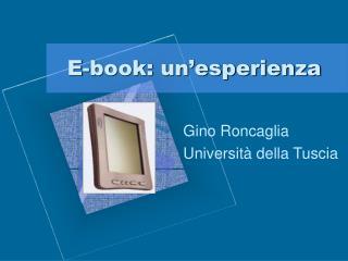 E-book: un esperienza