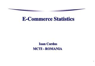 E-Commerce Statistics