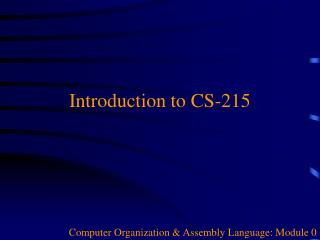 Introduction to CS-215