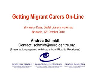 Getting Migrant Carers On-Line