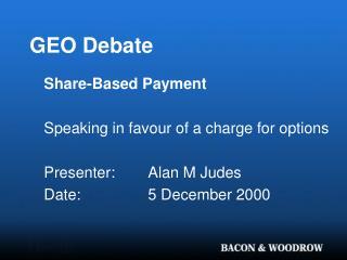 GEO Debate