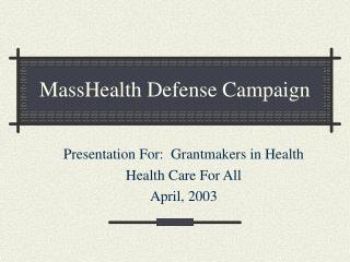 MassHealth Defense Campaign