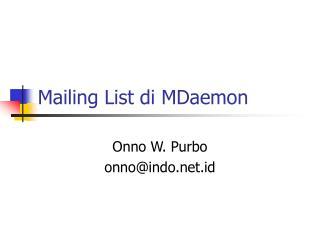 Mailing List di MDaemon