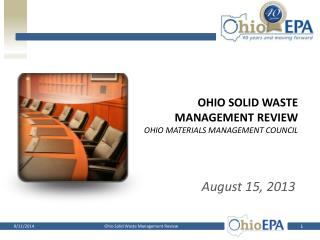 Ohio Solid waste management review Ohio Materials Management Council