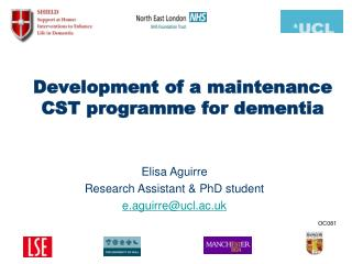 Development of a maintenance CST programme for dementia