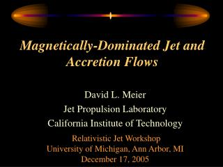 Magnetically-Dominated Jet and Accretion Flows