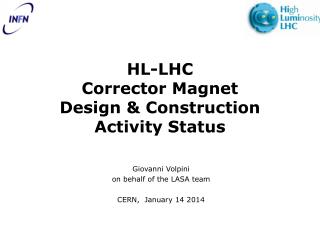HL-LHC Corrector Magnet Design & Construction Activity Status