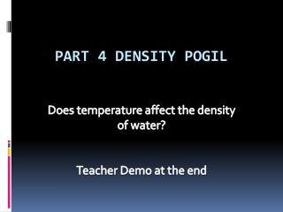 Part 4 Density  Pogil