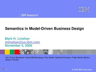 Semantics in Model-Driven Business Design