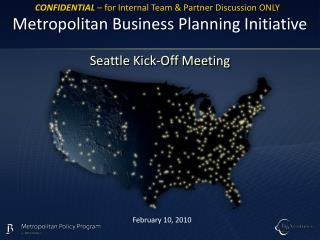Metropolitan Business Planning Initiative