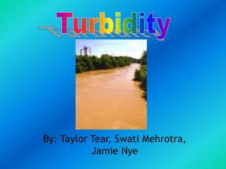 By: Taylor Tear, Swati Mehrotra, Jamie Nye