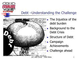 Debt –Understanding the Challenge