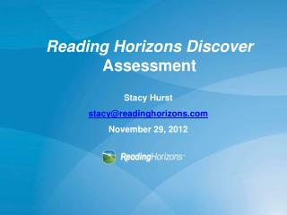Reading Horizons Discover  Assessment