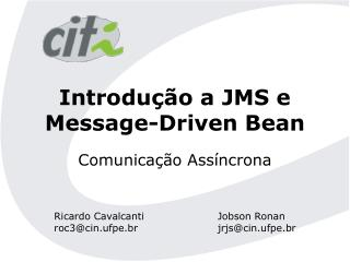 Introdu��o a JMS e Message-Driven Bean