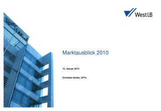 Marktausblick 2010