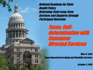 Texas: Self-determination with Consumer Directed Services