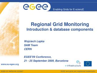 Regional Grid Monitoring Introduction & database components