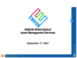ENRON WHOLESALE Asset Management Services