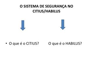 O SISTEMA DE SEGURANÇA NO CITIUS/HABILUS