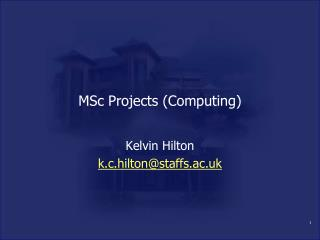 MSc Projects (Computing)