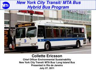 New York City Transit/ MTA Bus  Hybrid Bus Program