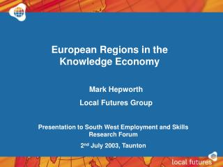 European Regions in the Knowledge Economy