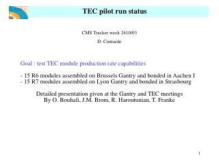 TEC pilot run status