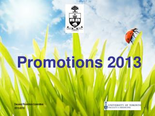 Promotions 2013